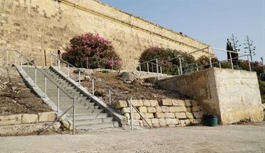 Embellishment works on Manoel Island's foreshore